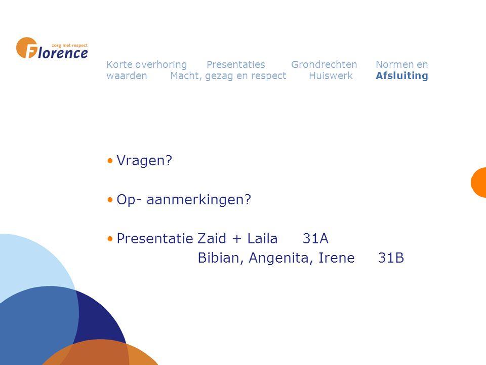 Presentatie Zaid + Laila 31A