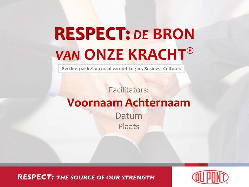 RESPECT: DE BRON VAN ONZE KRACHT®