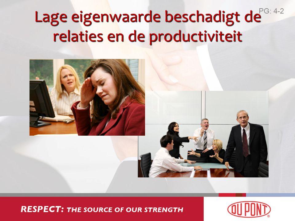 Lage eigenwaarde beschadigt de relaties en de productiviteit