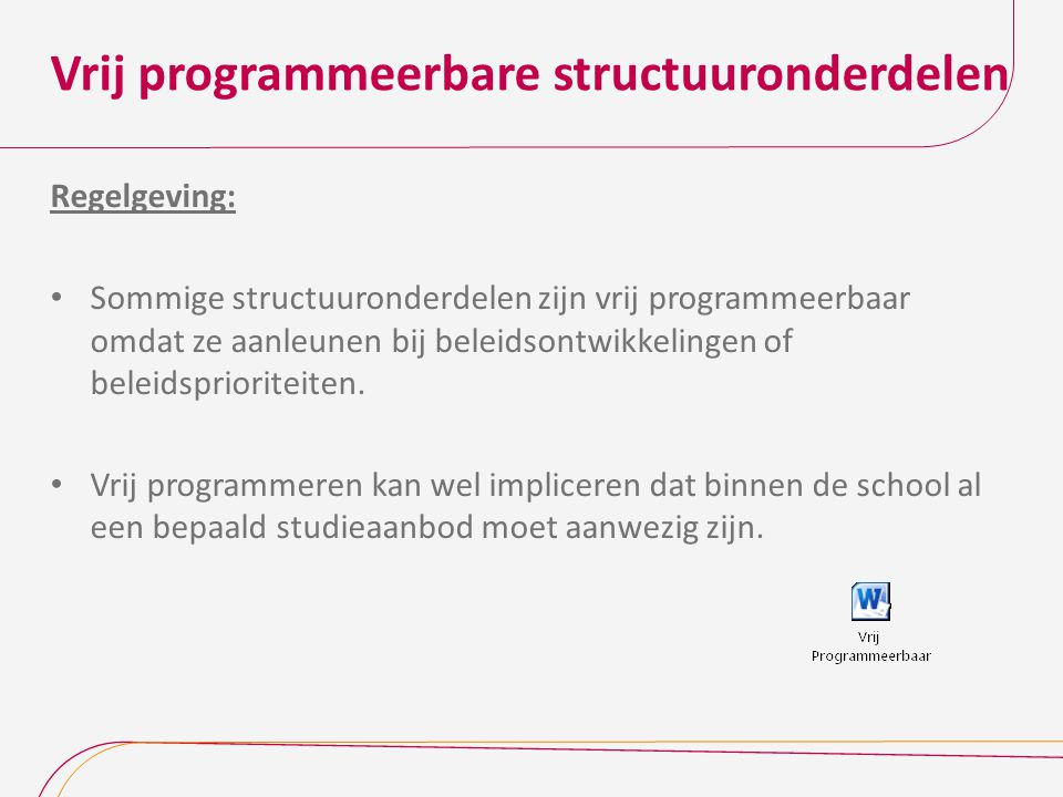 Vrij programmeerbare structuuronderdelen