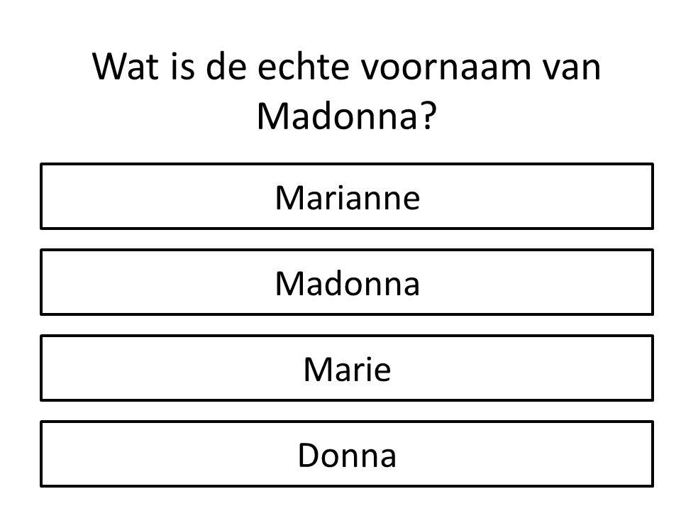 Wat is de echte voornaam van Madonna