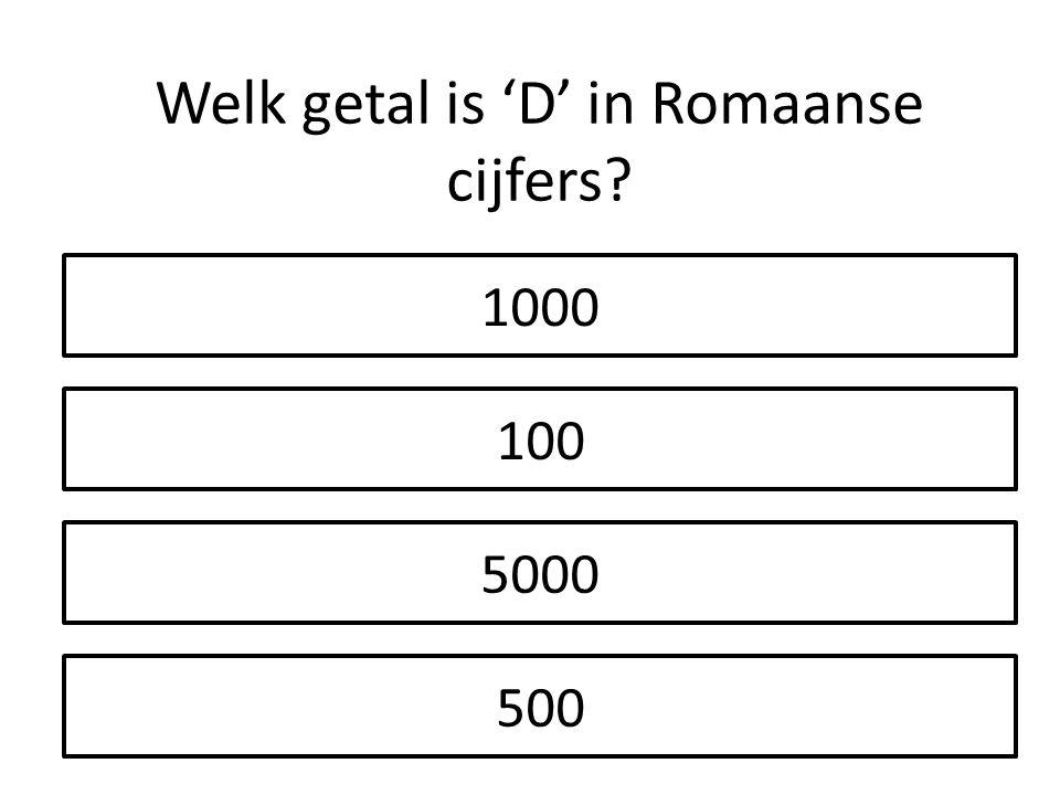 Welk getal is 'D' in Romaanse cijfers