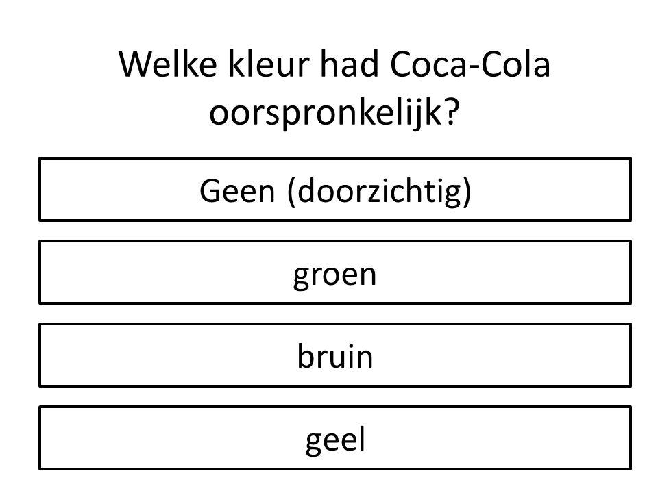 Welke kleur had Coca-Cola oorspronkelijk