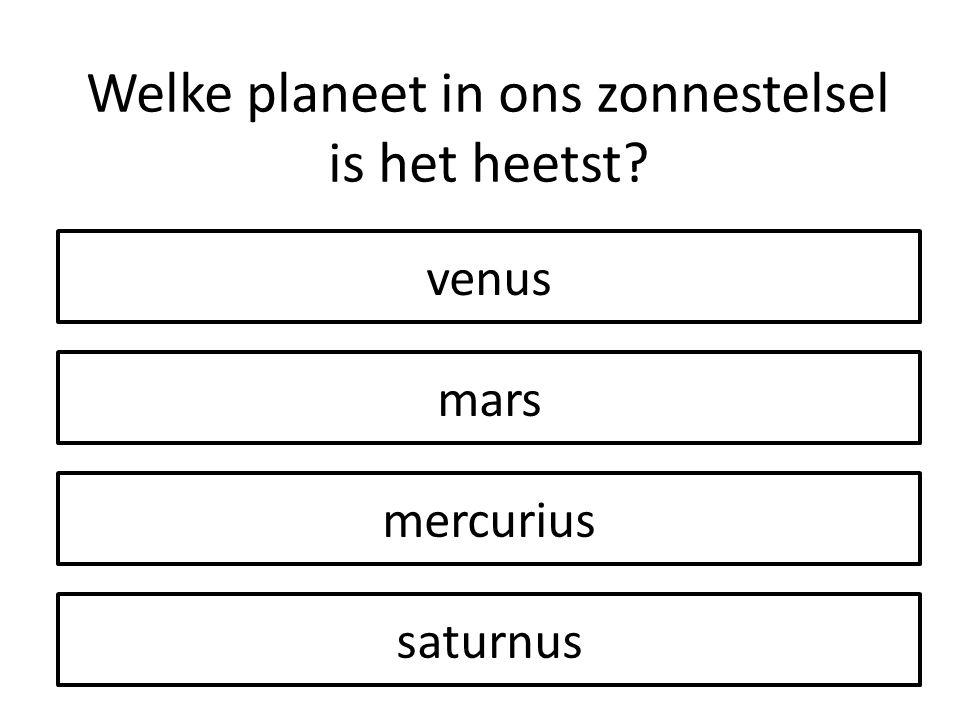 Welke planeet in ons zonnestelsel is het heetst