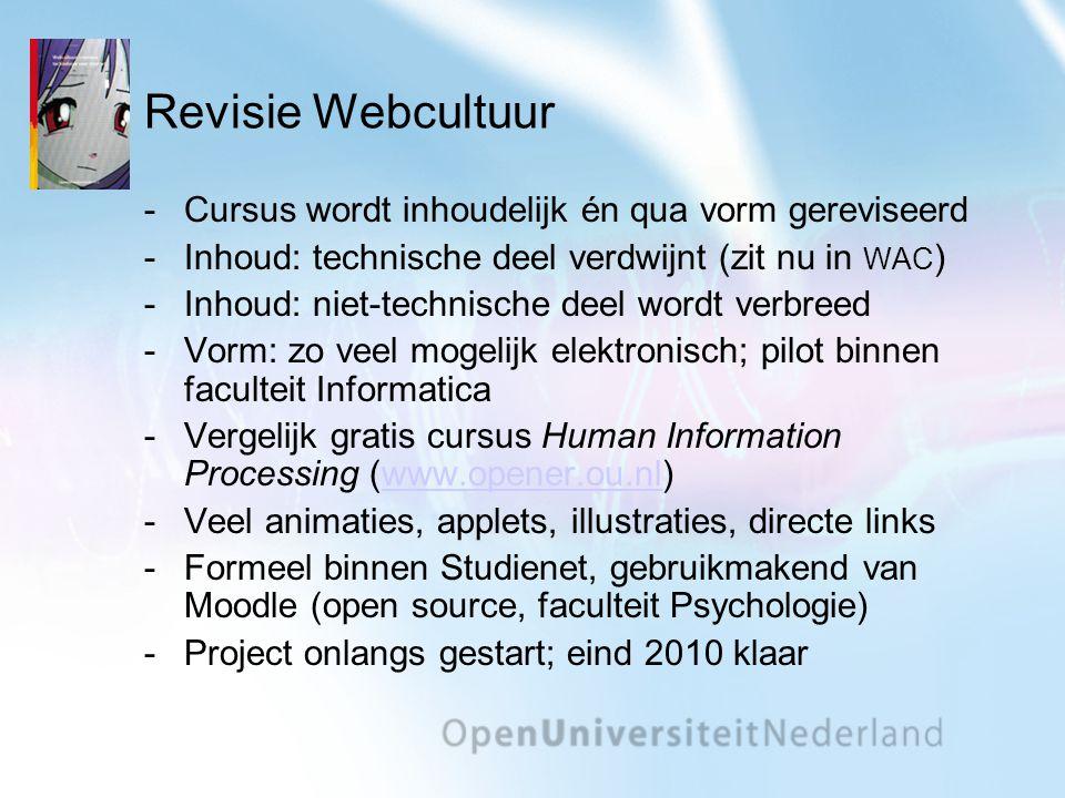 Revisie Webcultuur Cursus wordt inhoudelijk én qua vorm gereviseerd