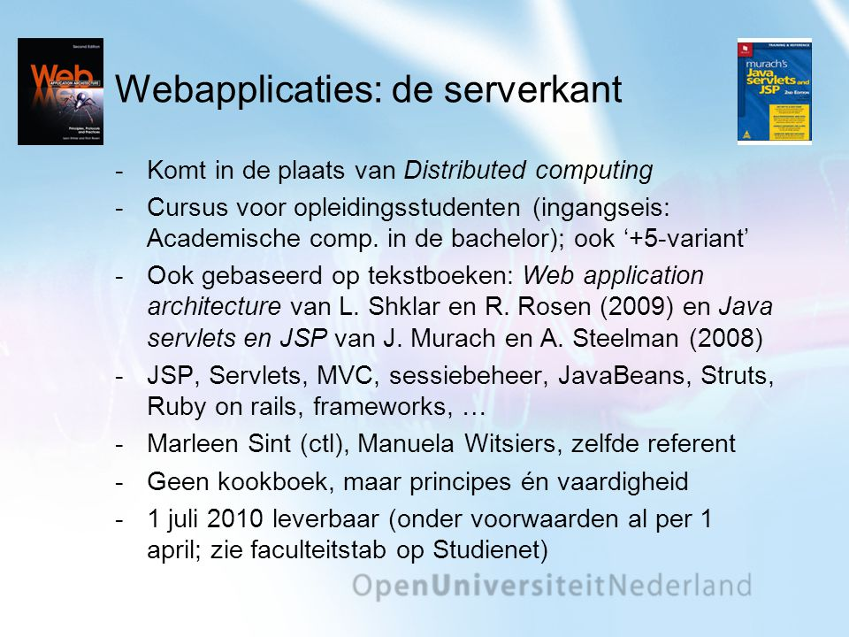 Webapplicaties: de serverkant