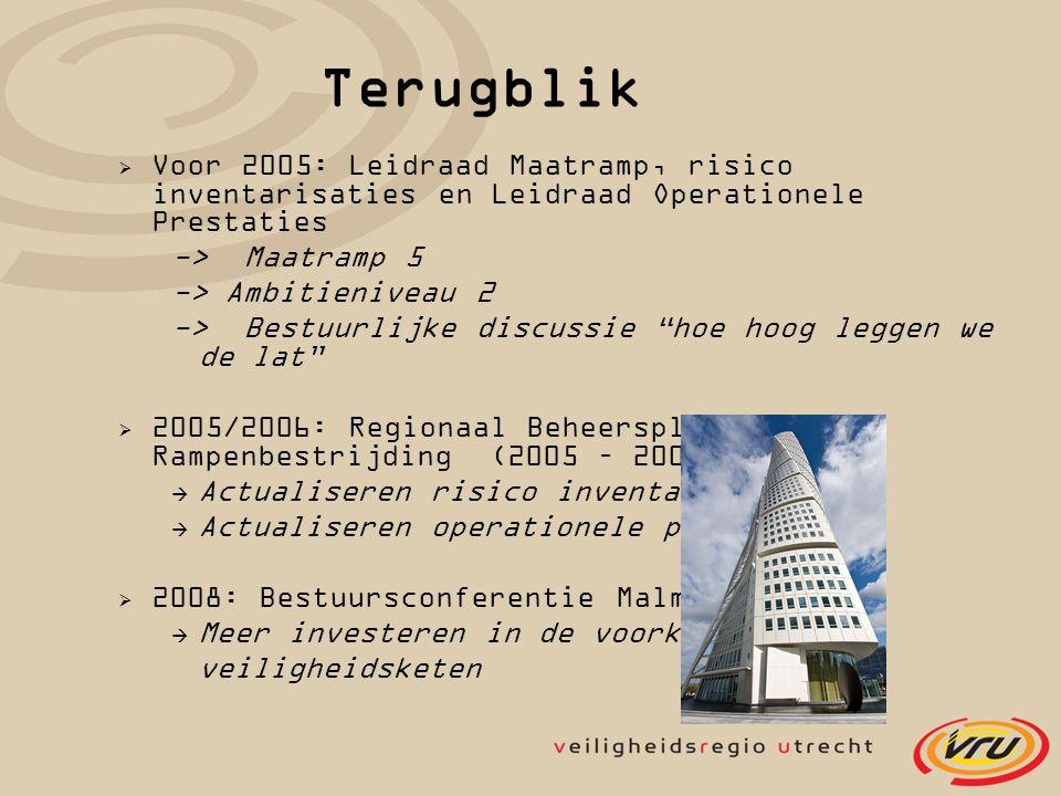 Terugblik Voor 2005: Leidraad Maatramp, risico inventarisaties en Leidraad Operationele Prestaties.