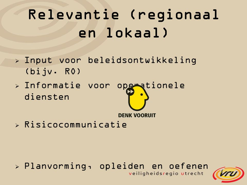 Relevantie (regionaal en lokaal)