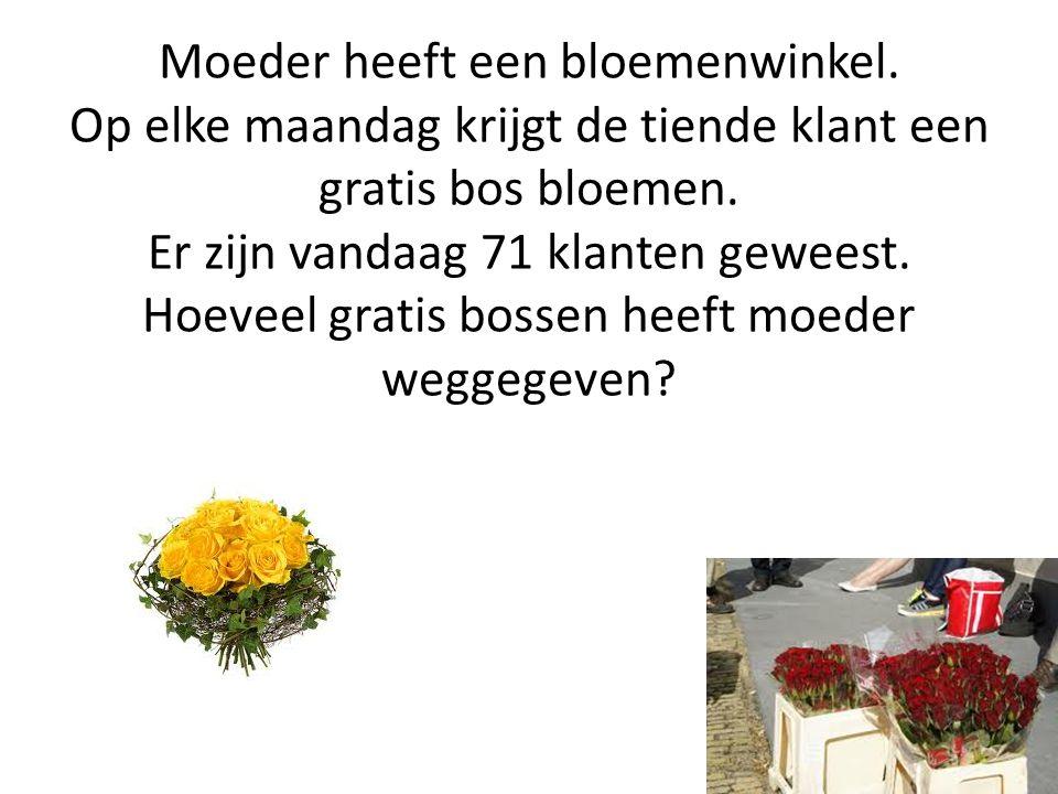 Moeder heeft een bloemenwinkel