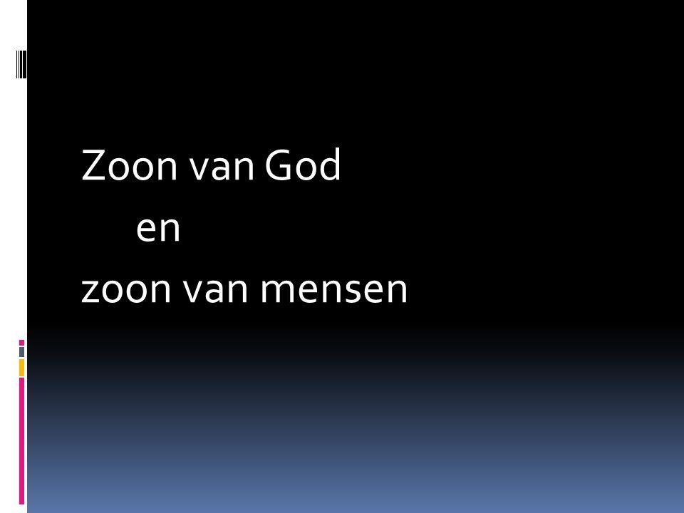 Zoon van God en zoon van mensen