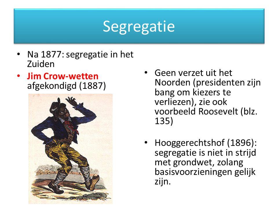 Segregatie Na 1877: segregatie in het Zuiden