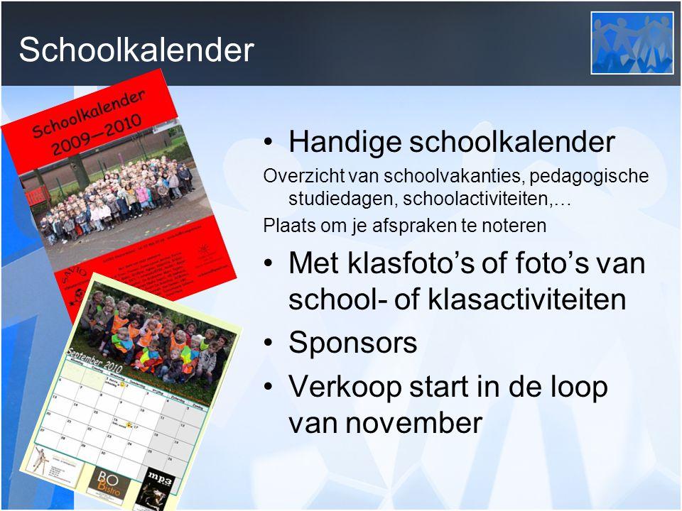 Schoolkalender Handige schoolkalender