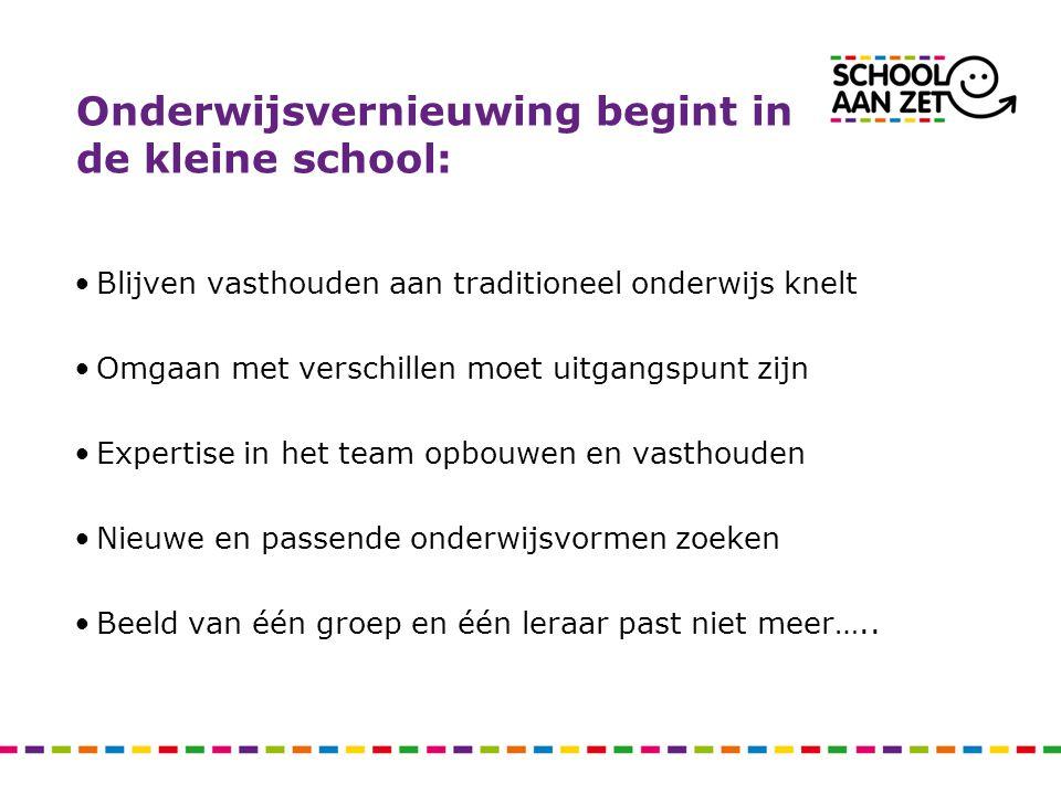 Onderwijsvernieuwing begint in de kleine school: