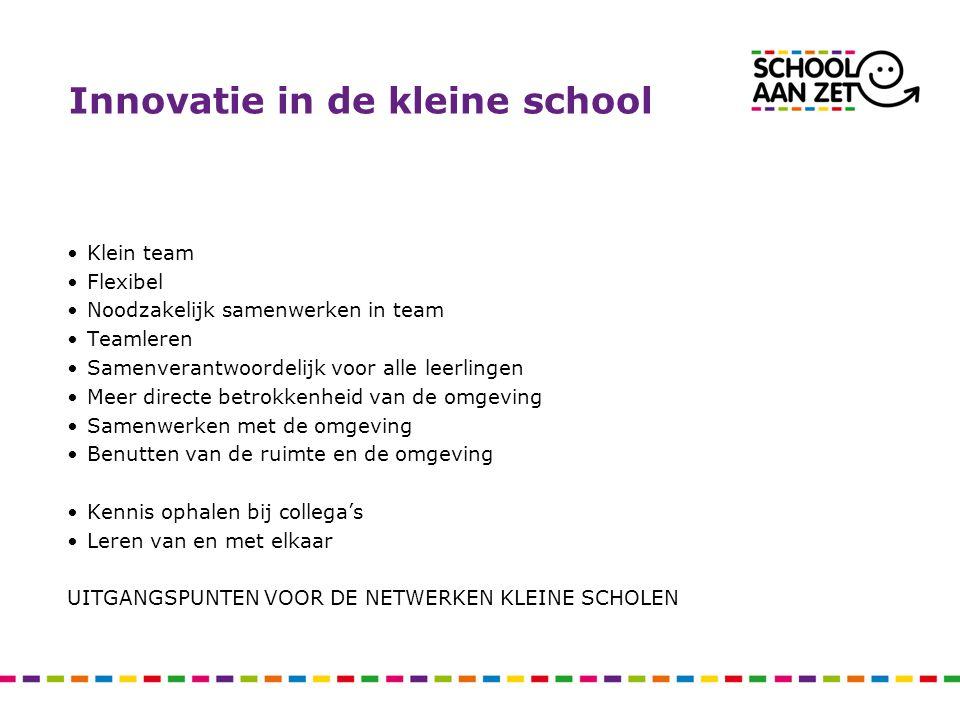 Innovatie in de kleine school