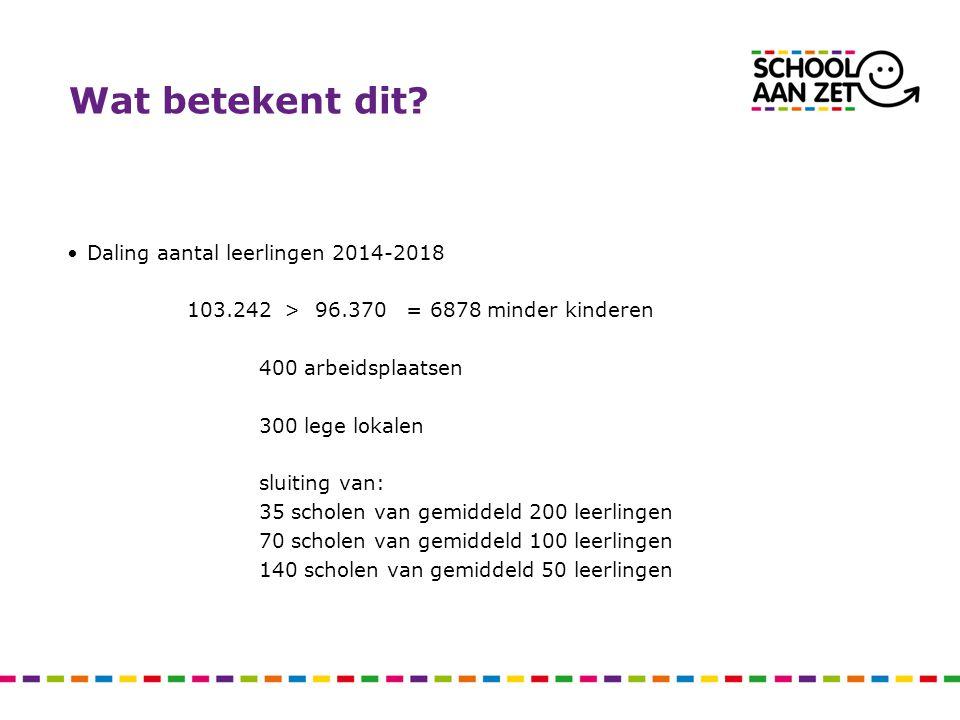 Wat betekent dit Daling aantal leerlingen 2014-2018