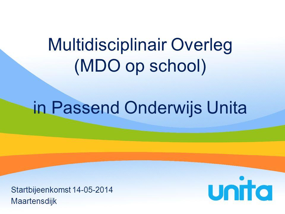 Multidisciplinair Overleg (MDO op school) in Passend Onderwijs Unita