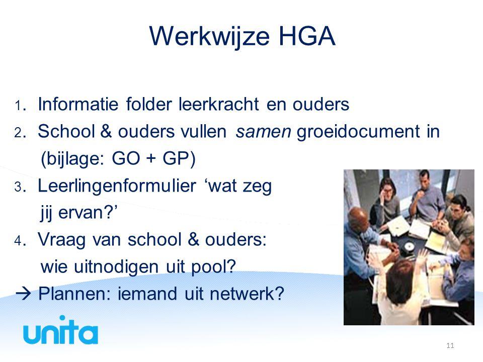 Werkwijze HGA (bijlage: GO + GP) jij ervan ' wie uitnodigen uit pool