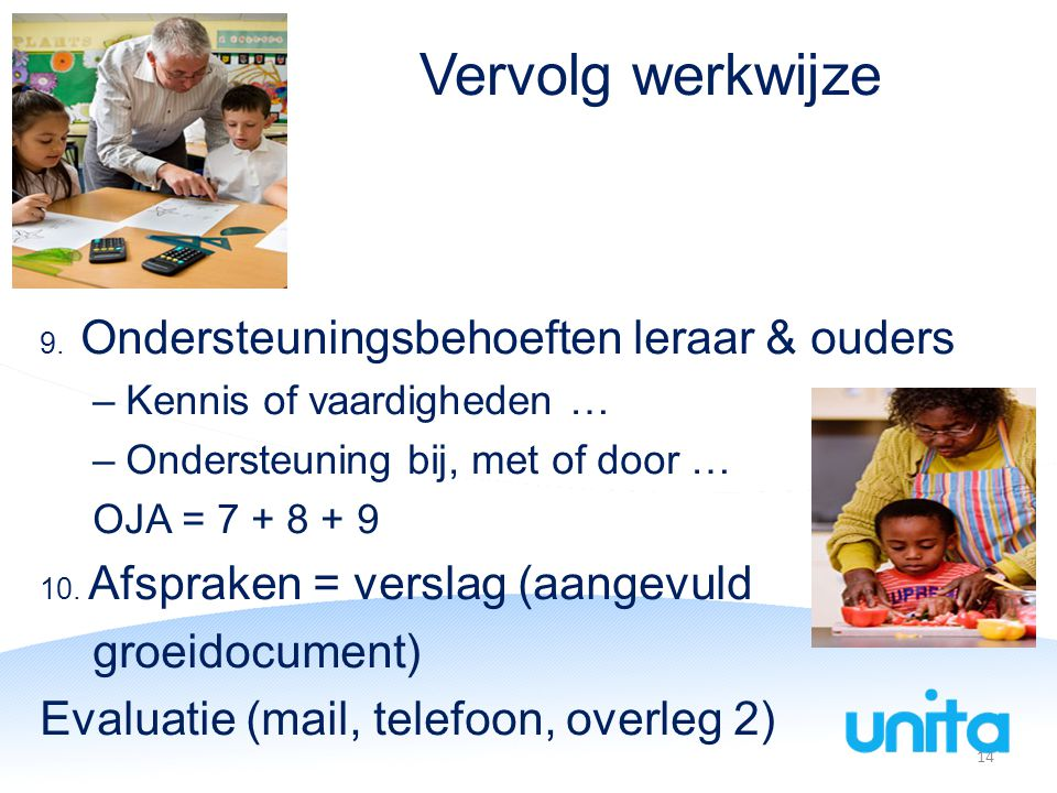 Vervolg werkwijze groeidocument) Evaluatie (mail, telefoon, overleg 2)