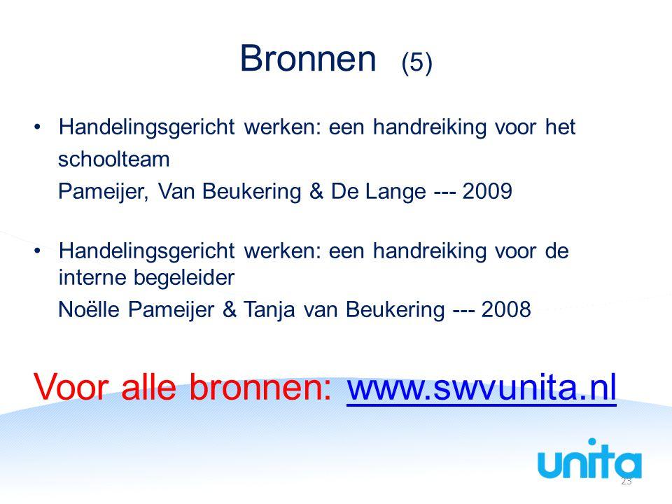 Voor alle bronnen: www.swvunita.nl