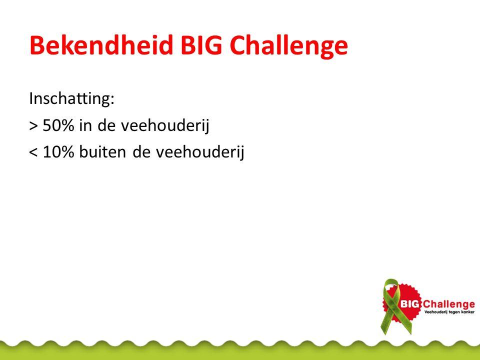 Bekendheid BIG Challenge