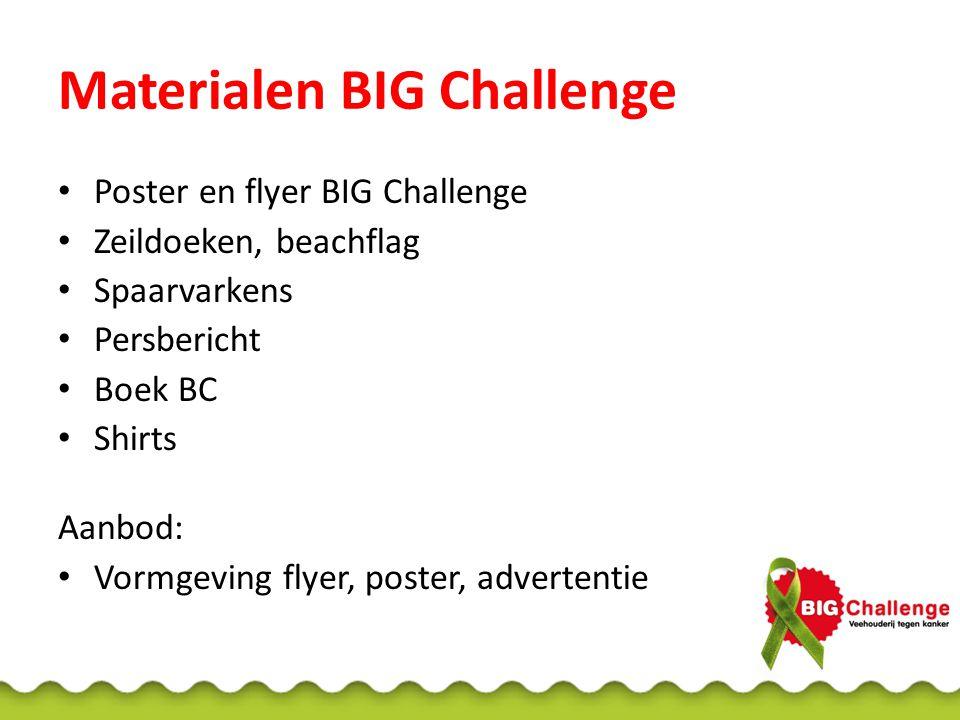 Materialen BIG Challenge