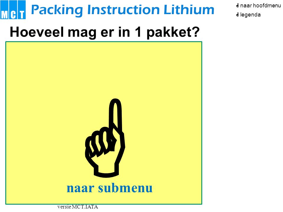 MCT Outline powerpoint IATA basiscursus