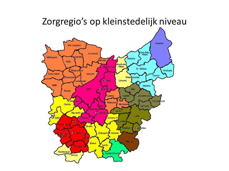 Zorgregio's op kleinstedelijk niveau