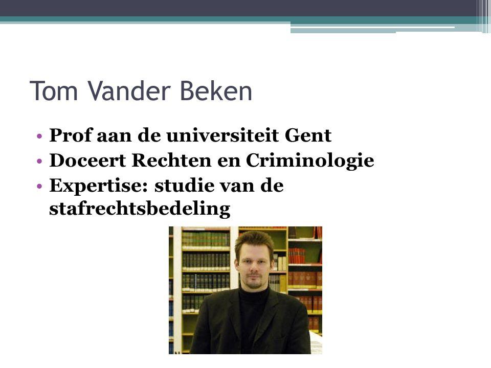 Tom Vander Beken Prof aan de universiteit Gent
