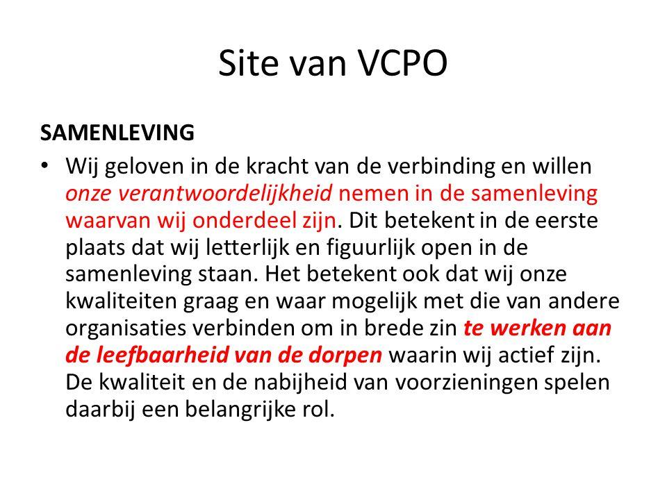 Site van VCPO SAMENLEVING