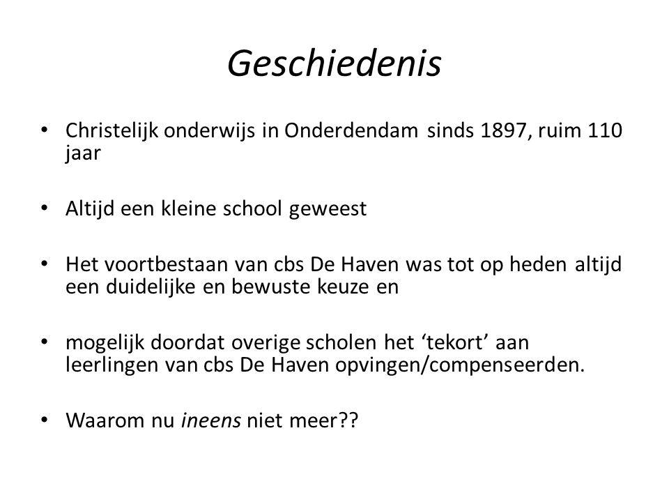 Geschiedenis Christelijk onderwijs in Onderdendam sinds 1897, ruim 110 jaar. Altijd een kleine school geweest.