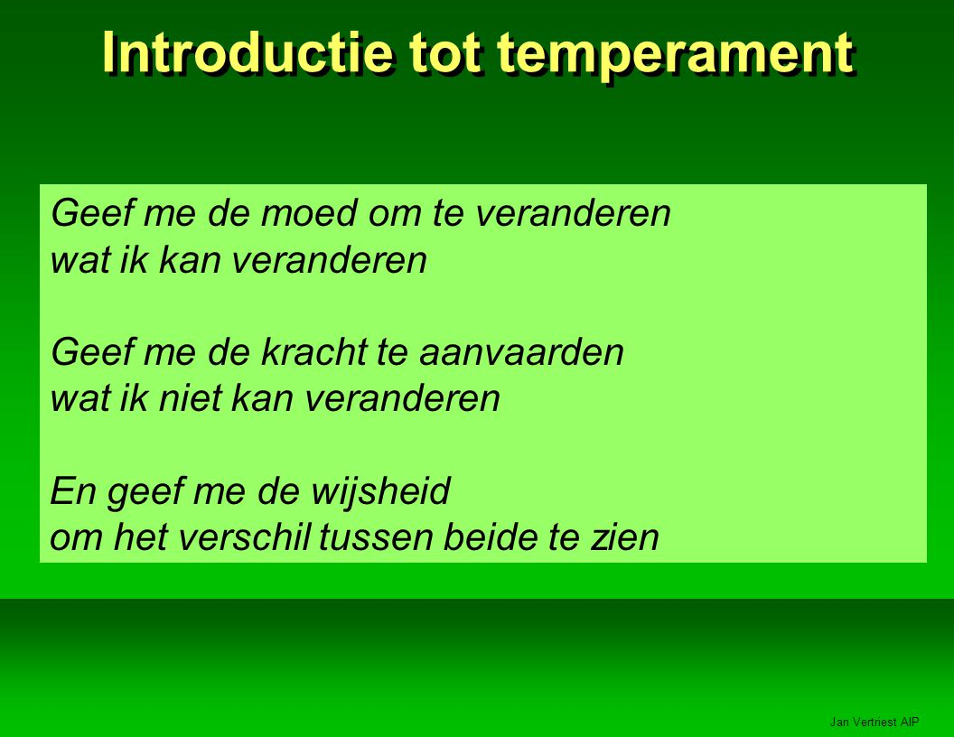 Introductie tot temperament