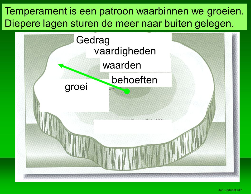 Temperament is een patroon waarbinnen we groeien.