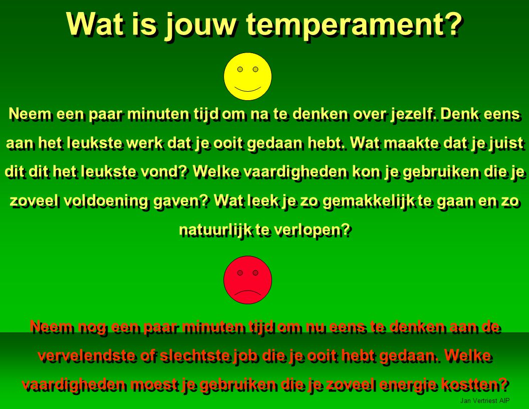 Wat is jouw temperament