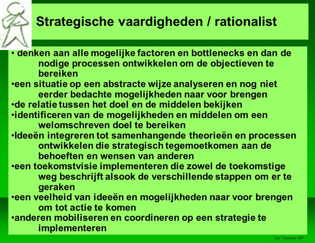 Strategische vaardigheden / rationalist