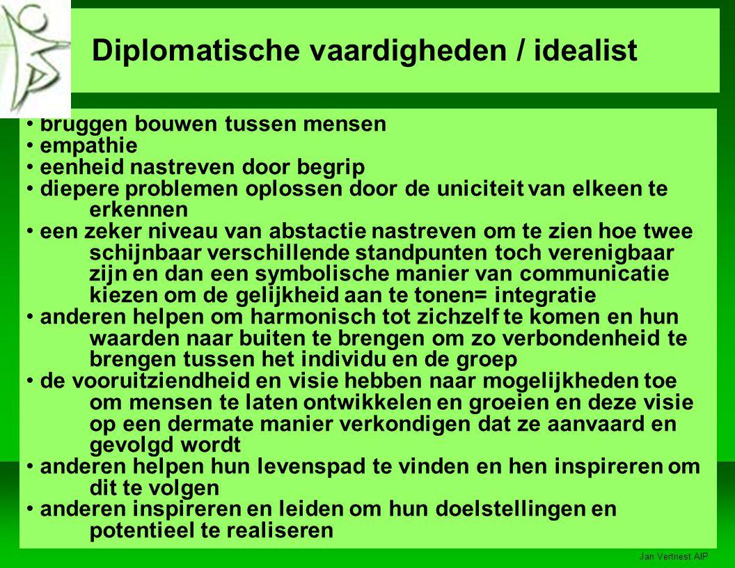 Diplomatische vaardigheden / idealist