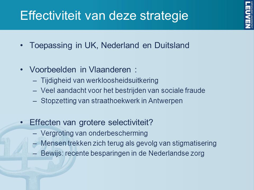 Effectiviteit van deze strategie