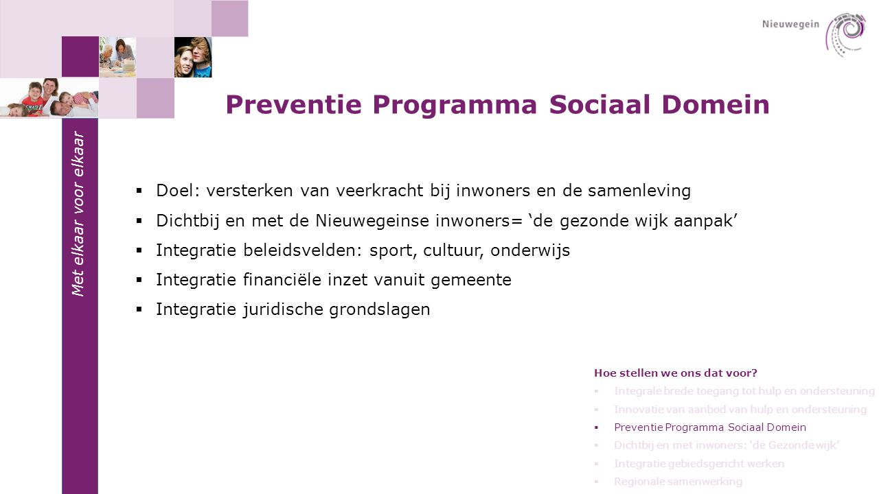 Preventie Programma Sociaal Domein