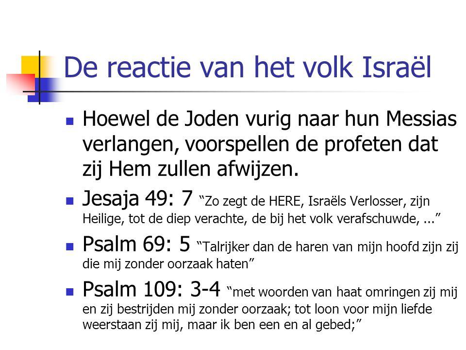 De reactie van het volk Israël