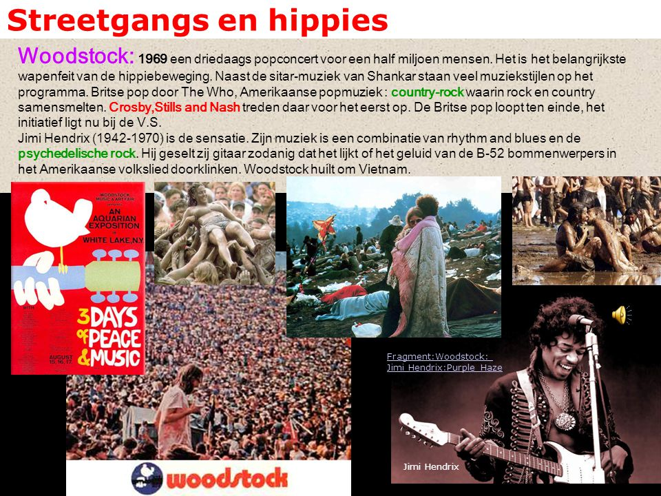 Streetgangs en hippies