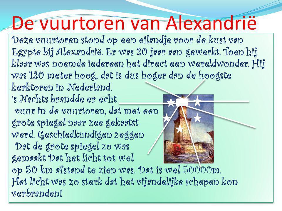 De vuurtoren van Alexandrië