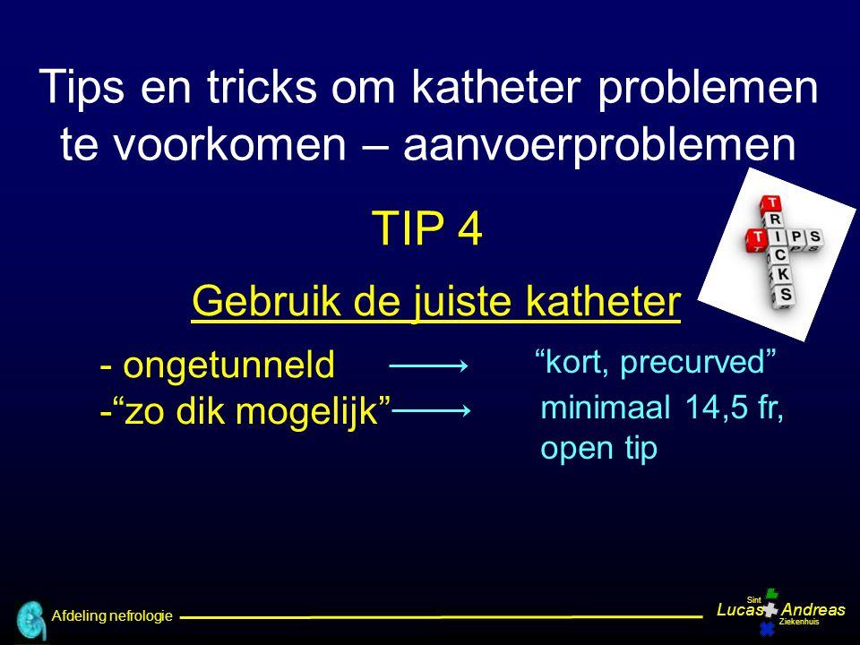 Tips en tricks om katheter problemen te voorkomen – aanvoerproblemen