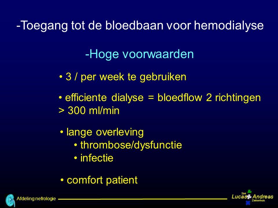 Toegang tot de bloedbaan voor hemodialyse