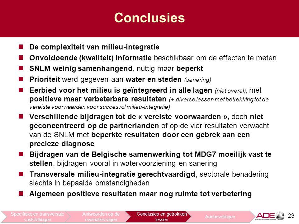 Conclusies De complexiteit van milieu-integratie