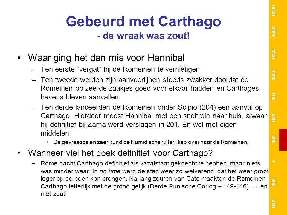 Gebeurd met Carthago - de wraak was zout!
