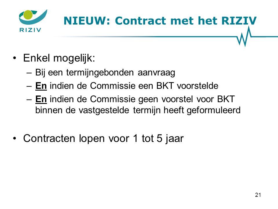 NIEUW: Contract met het RIZIV