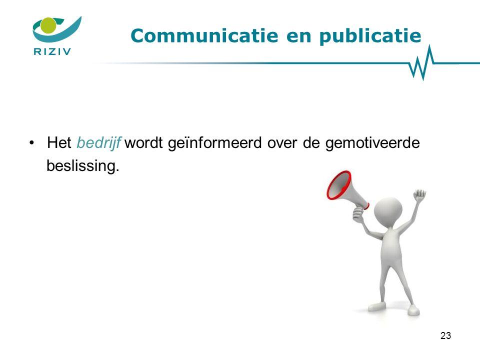 Communicatie en publicatie