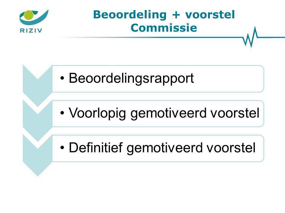 Beoordeling + voorstel Commissie
