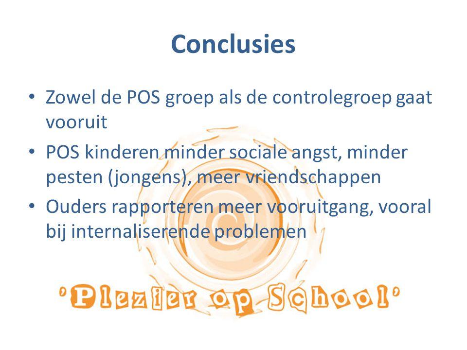 Conclusies Zowel de POS groep als de controlegroep gaat vooruit