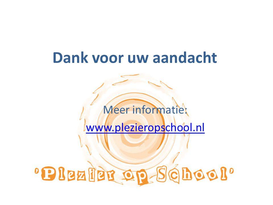 Meer informatie: www.plezieropschool.nl