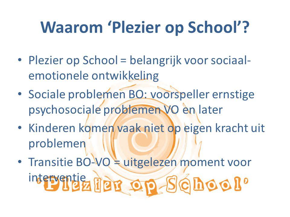 Waarom 'Plezier op School'